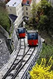 Trams in The Schlossberg Graz Austria: 150 Page Lined Notebook/Diary