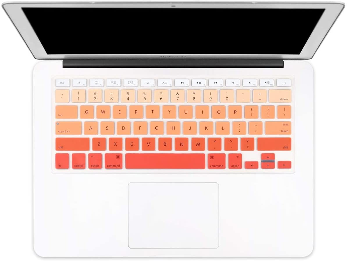 Batianda New Ombre Color Keyboard Cover Protector Silicone Skin for Old MacBook Air 13