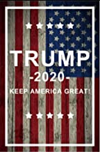 Jolly Jon Trump 2020 Keep America Great - 12 x 18 Double Sided Garden Flag - Weather Resistant Polyester Outdoor Material - Donald Trump for President Flags - American Patriotic Yard Decoration