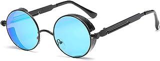 VisionsIndia RETRO VINTAGE UV400 Unisex Round Sunglasses (TS-SG-01)