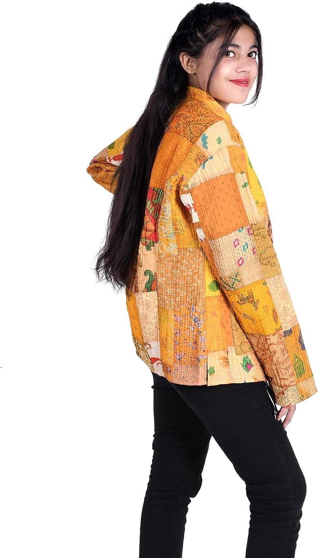 iinfinize Patchwork Waistcoat Active Jacket Hoodies Throw Housecoat Vintage Track Jacket Hippie Outdoor Windbreakers Quilted Jacket Size M
