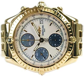 Breitling Chronomat Yellow Gold 13050.1 Pre-Owned (Renewed)