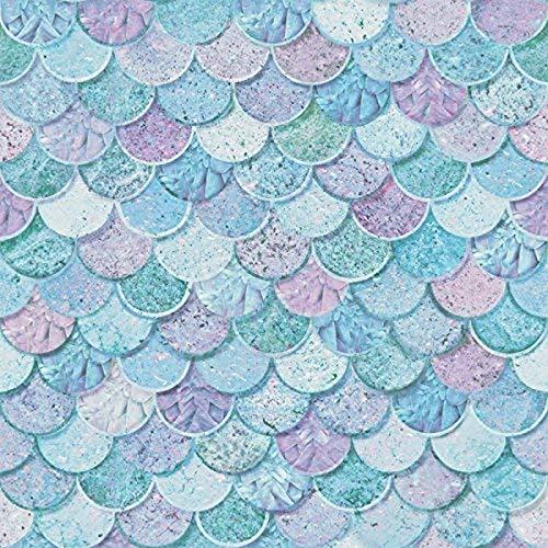 Arthouse Mermazing Scales Wallpaper, Blue