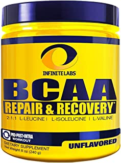 Infinite Labs BCAA Powder Unflavored, 8 oz
