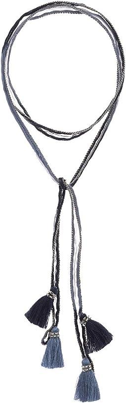 Chan Luu - Dip-Dye Necktie with Tassels