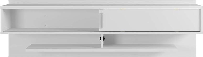 """Manhattan Comfort Astor Modern Living Room Floating Entertainment Center with Media Shelves, 70.86"""", White"""
