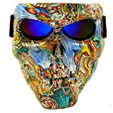 Lawnite Skull Airsoft Mask,Full Face Protective Paintball Masks,Airsoft Tactical Mask for Outdoor Cs Wargame