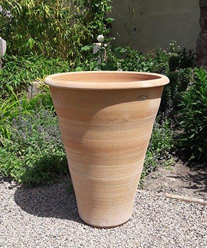 exklusive terracotta Pflanzkübel | 70 cm | handgefertigt und frostsicher | Garten Dekoration Außenbereich Blumentopf/Blumentöpfe