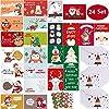 クリスマスカード 24種類のクリスマス飾り グリーティングカードセット メッセージカード 祝いカード かわいい プレゼントカ封筒とシールが含まれています 新年