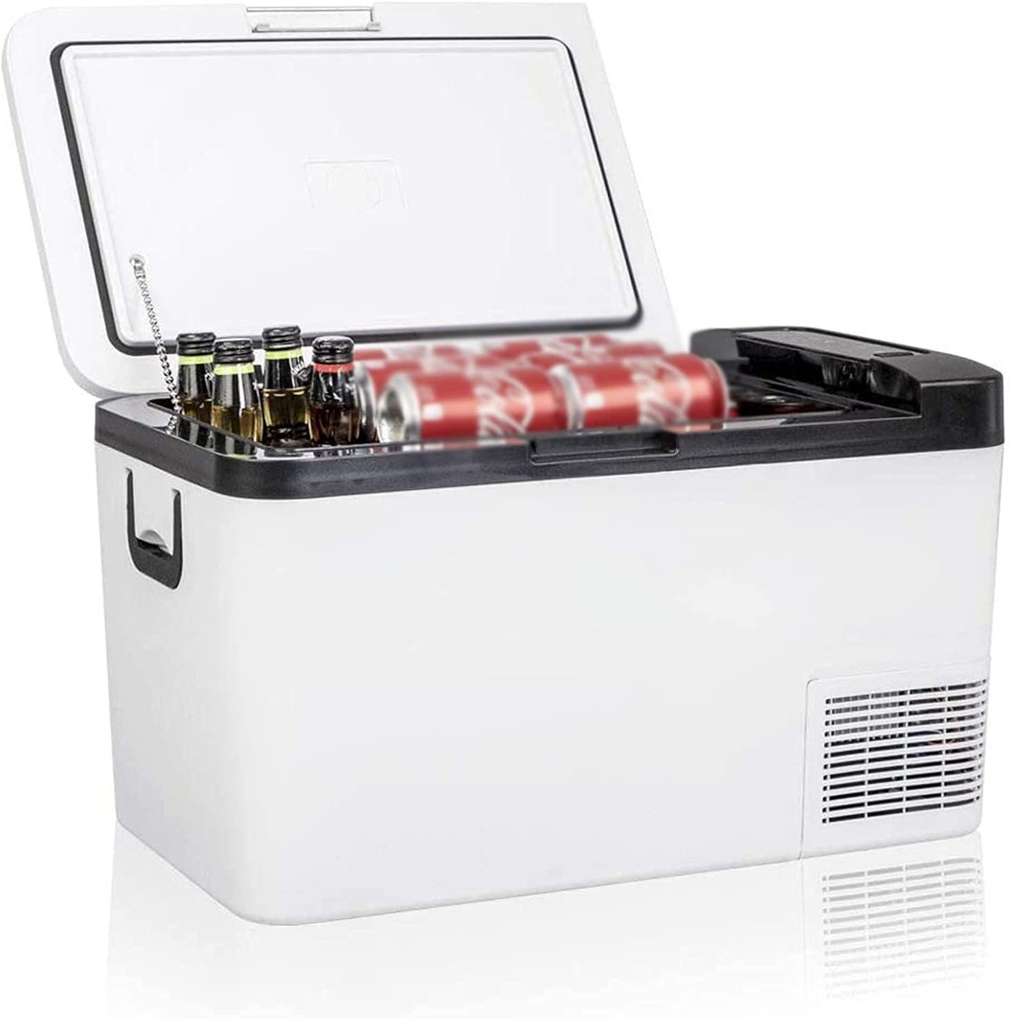 GGZZLL Refrigerador portátil 26 Cuarto de galón de 25 litros Freidismo congelador 12 voltios Congelador para vehículos de automóvil Camión de vehículos RV Barco Mini Frigorífico Congelador