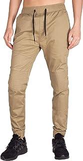 Pantalón para Hombre Casual Chino Jogging Biker Algodón Slim Fit 20 Colores