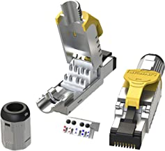 [LINKUP] Cat8 Ethernet Cable Connector (12-Pack) RJ45 Metal Die-Cast Field Termination Plug | Tool Free Easy Jack | for 2000Mhz 40G S/FTP Shielded LAN Screened Solid 2Ghz Bulk Cable 22AWG-24AWG