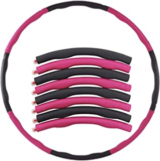 NABAO Fitness hula hoop Adult and children fitness hoop Removable and adjustable adjustable hula hoop for weight loss