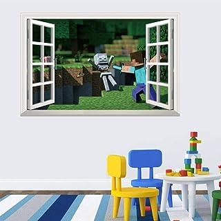 Kibi Minecraft Stickers Muraux Minecraft Stickers Muraux pour Murales De Chambre Enfants Home Decor Applique Posters Autocollant Minecraft Mural