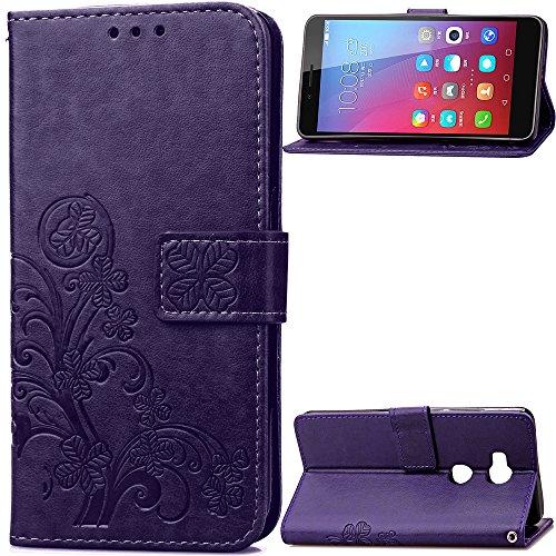 Hülle für Huawei Honor 5X Hülle Handyhülle [Standfunktion] [Kartenfach] Schutzhülle lederhülle klapphülle für Huawei Honor 5X - DESD050642 Violett