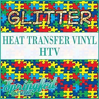 GLITTER AUTISM PUZZLE PATTERN HTV 12