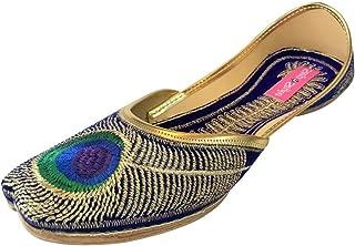 Women Peacock Sandle Flipflops Punjabi Us Indian Mojari Khussa Jutti