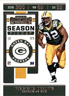 2019 NFL Contenders Season Ticket #2 Reggie White Green Bay Packers Official Panini Football Trading Card