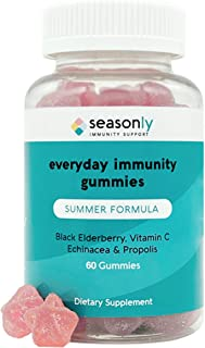 Seasonly™ Summer Immunity Booster | 200mg Elderberry Gummies for Adults and Kids | Vegetarian Non-GMO Gluten Free, Natural...