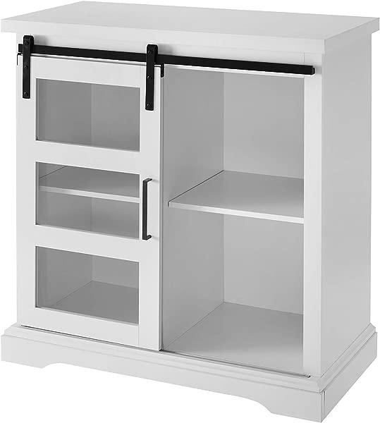 WE Furniture AZF32ALGDSW Buffet 32 Solid White