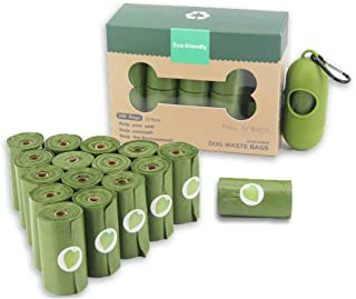 Dog Poop Bags 16 Rolls, Biodegradable Pet Waste Bags with Dispenser and Clip Eco-Friendly Extra Thick and Strong Leak Proo...