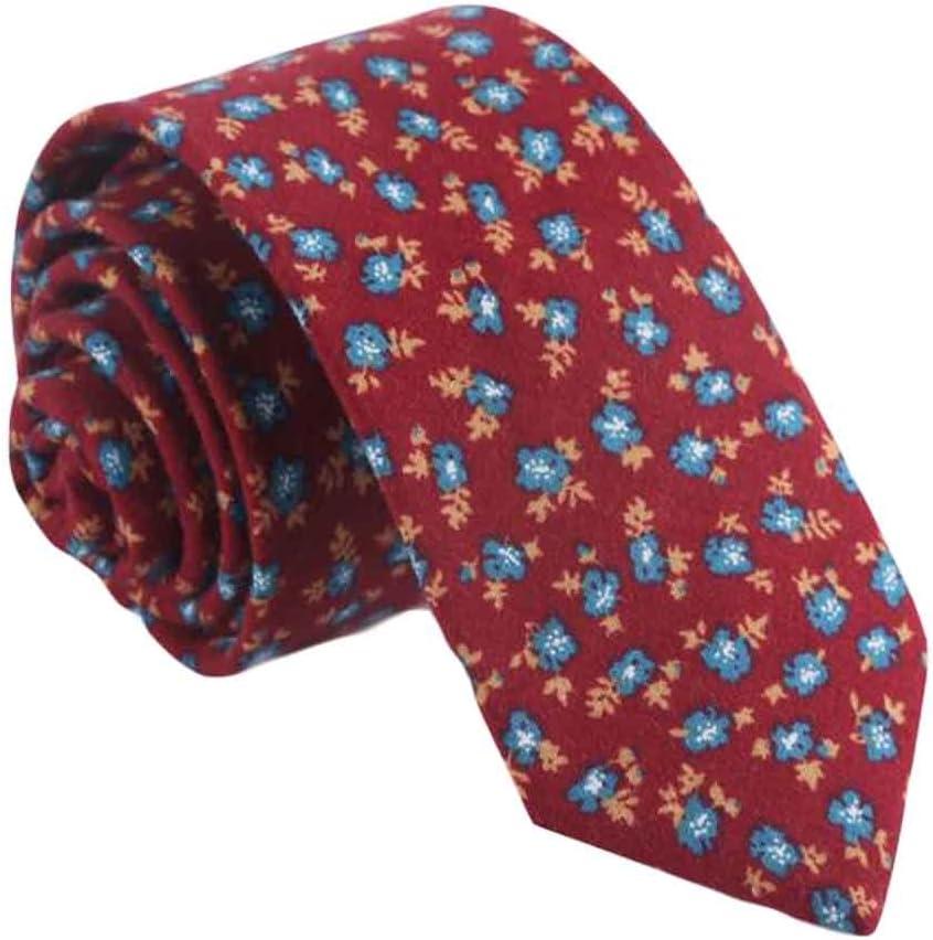 Wukong Direct Formal/Casual Neckties Men Cotton Neckties Red Skinny Necktie Fashion Floret 6cm