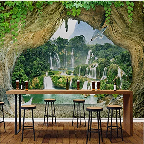 Papel pintado fotográfico 3D con diseño de árbol grande, tamaño 3D, 400 x 280 cm