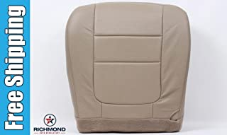 Richmond Auto Upholstery 2001 Ford F-350 Lariat Super Duty Perforated Driver Side Bottom Replacement Leather Seat Cover, Tan