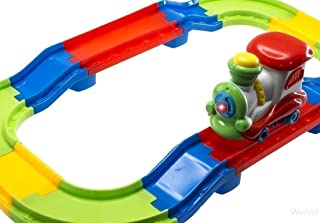 WolVol Electric Fully Colored Train Playset for Toddlers, Lights and Sounds, Speedway Trackset