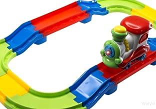 WolVol Attractive Colorful Toddler Train Set with Lights and Sound, Easy Tracks Assembly, Train Goes Around by It Self