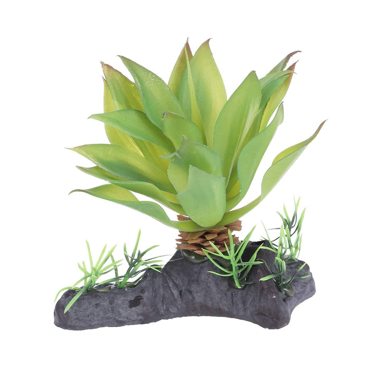 POPETPOP - Adorno decorativo para maceta de plantas de jardín de hadas, plantas suculentas artificiales, para reptiles, anfibios, tortugas (verde): Amazon.es: Jardín