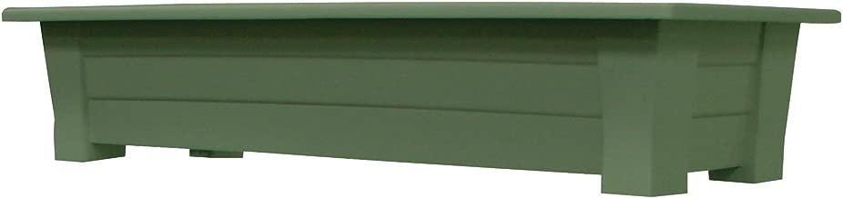 Adams Manufacturing 9302-01-3700 36-Inch Deck Planter, Sage Green