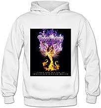 Soulya Women's Phoenix Rising Deep Purple Korean Style Hoodies Sweatshirt Size US Black