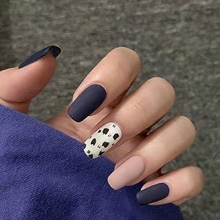 Handcess Piazza Matte falso Nail Blu Rosa Pressa media sulle unghie copertura del leopardo arte acrilica completa falsa de...