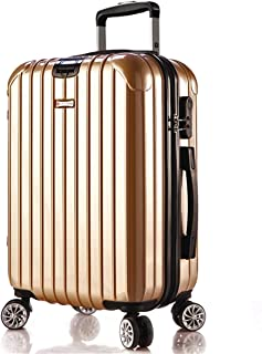 """Stylish and durable Wheels Travel Rolling Boarding20""""Inch APS+PC Convenient Trolley Case,Super Storage Luggage Bag, high quality (Color : Gold)"""
