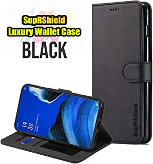 for Oppo Reno2 Z SupRShield Wallet Leather Flip Card Holder Magnetic Card Slots Protective Case Cover for Oppo Reno 2 Z (Black)