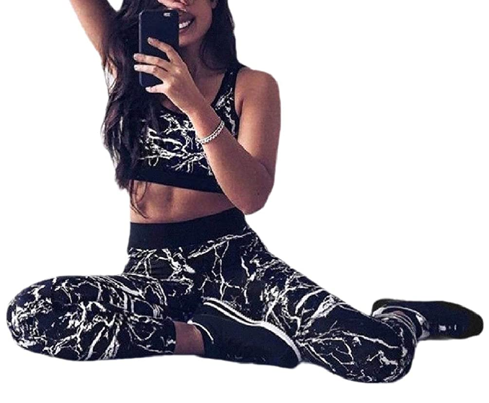 起きろやさしい証明する女性のヨガジョガー2つの部分の衣装トップランニングActivewearレギンスセット