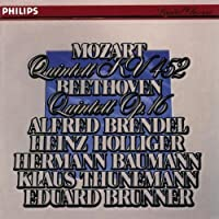 Mozart: Quintet in E Flat, K. 452 for Piano, Oboe, Clarinet, Horn, & Bassoon / Beethoven: Quintet in E Flat, Op. 16 for Piano, Oboe, Clarinet, Horn, & Bassoon