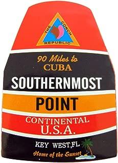 Southernmost Point Magnet Key West Florida Souvenir, 4 Inch