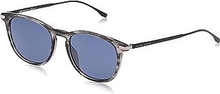 Hugo Boss Oval Sunglasses for Women - Blue Lens