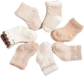 Calcetines para bebé 6 pares Calcetines de bebé calcetín de niño unisex niña niño para 0-3 años de edad color al azar