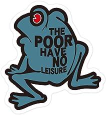 貧乏暇なし| コトワザステッカー | 防水 スマホ