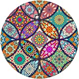 BOSOBO Mouse Pad, Round Mandala Mouse Mat, Cute Mouse Pad with Design, Non-Slip Rubber Bas...