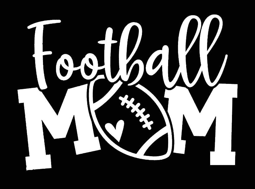 Football Mom Vinyl Decal Sticker Car Window Bumper White 5.5-Inches Premium Quality UV Resistant Laminate JMM064