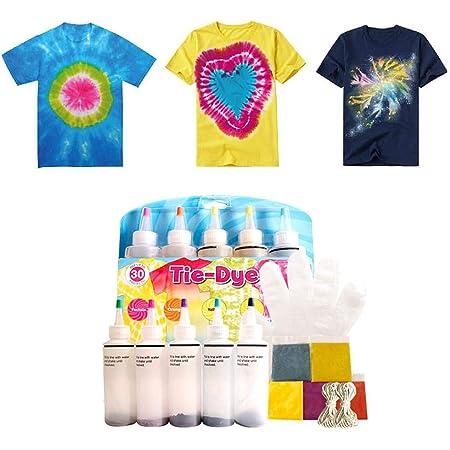 Kit De Un Solo Paso Tie-Dye DIY Ropa Graffiti Dye Party ...
