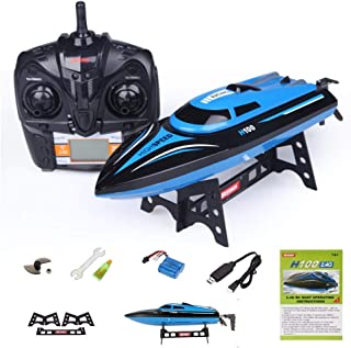 H100 RC Boat ORIGINAL 2.4GHz High Speed Remote Control Racing Boat With LCD Screen Gift Toy By PRIME TECH ™