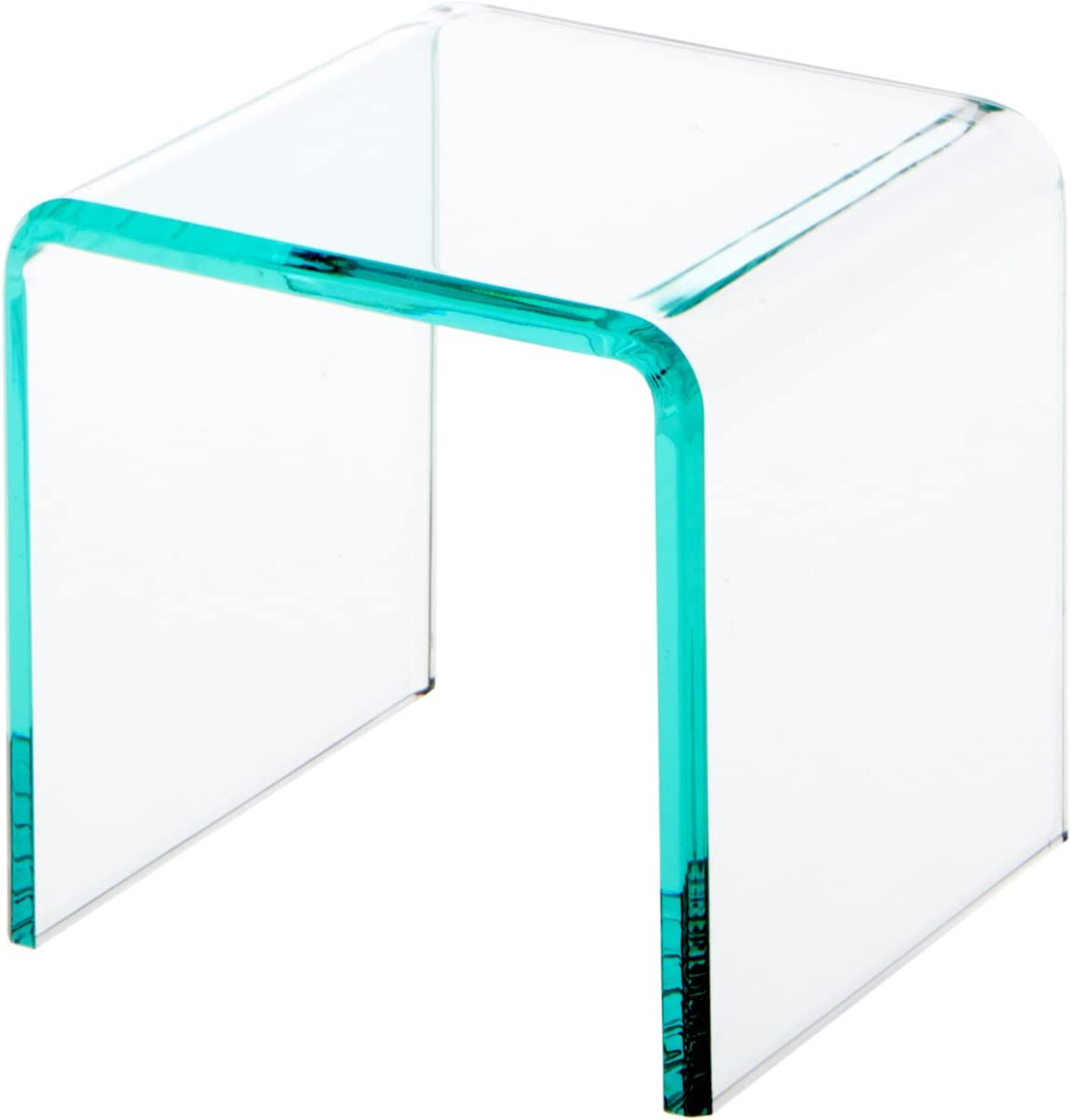 Plymor Clear Acrylic Green Glass-Look Beveled オリジナル Display Riser 限定Special Price Edge