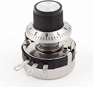 Uxcell a15082600ux0077 Carbon Linear Variable Potentiometer with Diameter Knob, WTH118-2W 10K Ohm