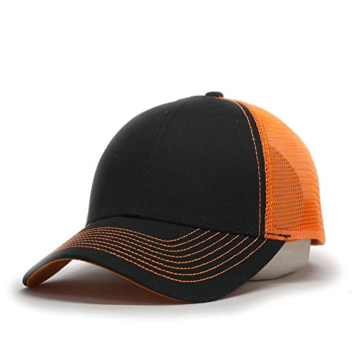 98775dc2235f8 Vintage Year Plain Two Tone Cotton Twill Mesh Adjustable Trucker Baseball  Cap