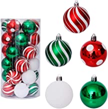 KESYOO 30pcs Christmas Ball Ornaments Shatterproof Christmas Tree Ball Decorations Hanging Ball Seasonal Xmas Holiday Part...
